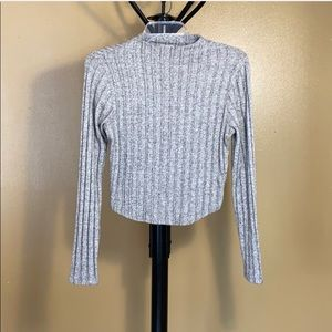 Charlotte Russe, gray sweater blouse, small